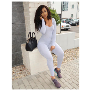 Long Sleeve Cotton Jumpsuit