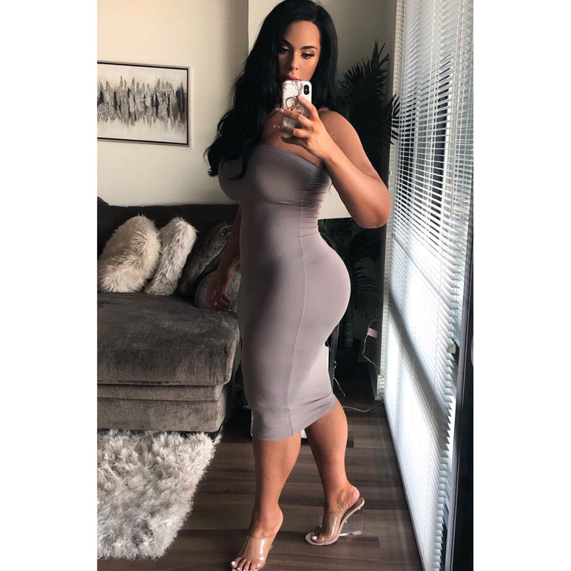 Essential Fitted Tube Dress