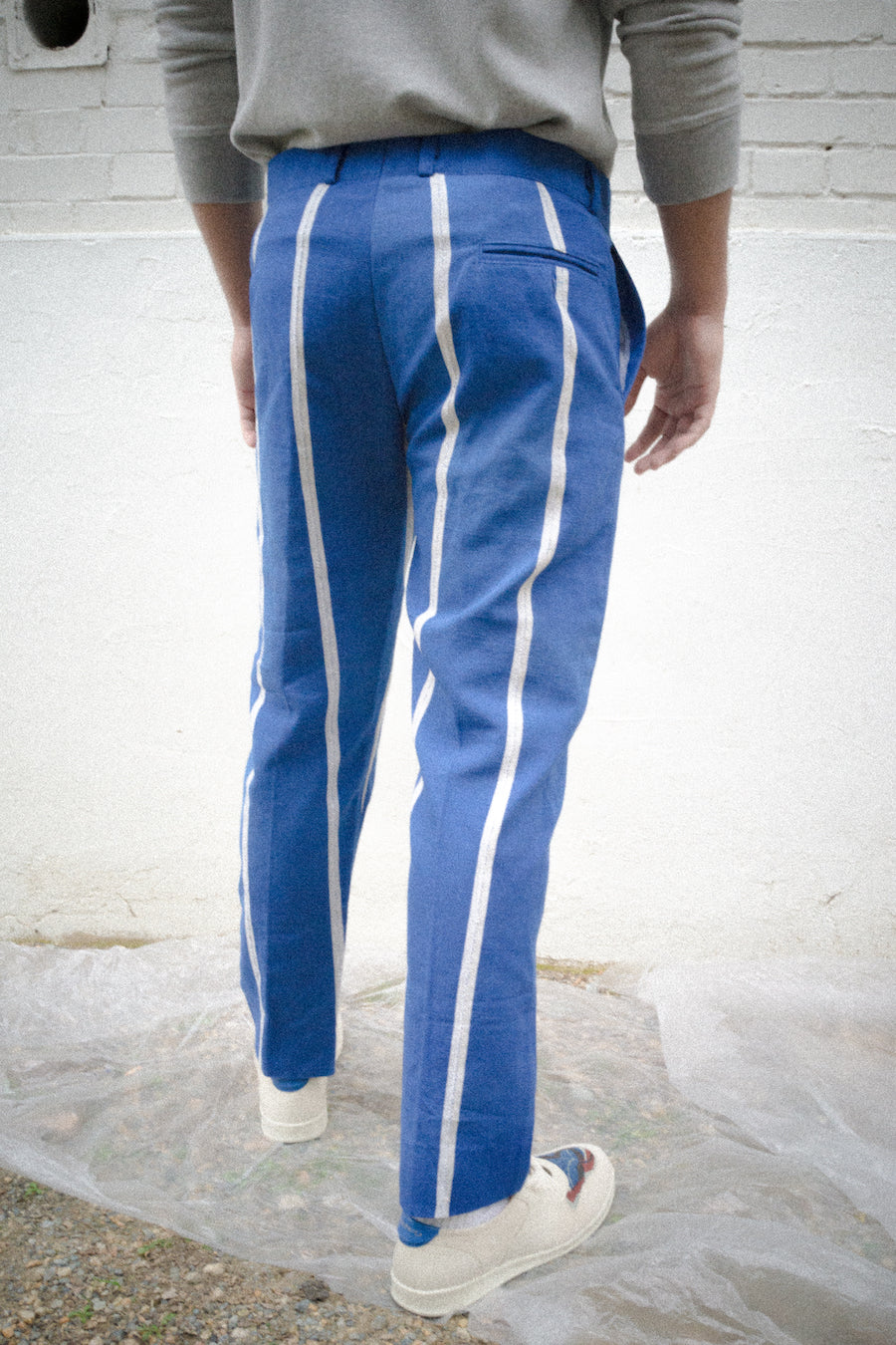 Fela II, Blue+ white, Pants