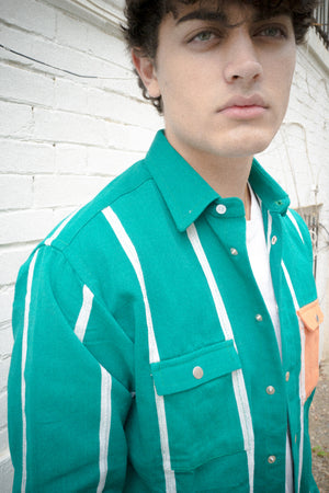 JoJo III, green + white, Shirt