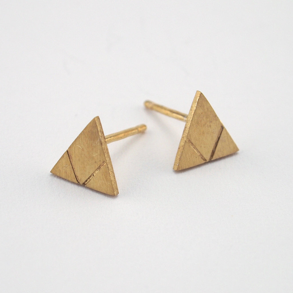 Love Triangle Earring Set | Gold Plate
