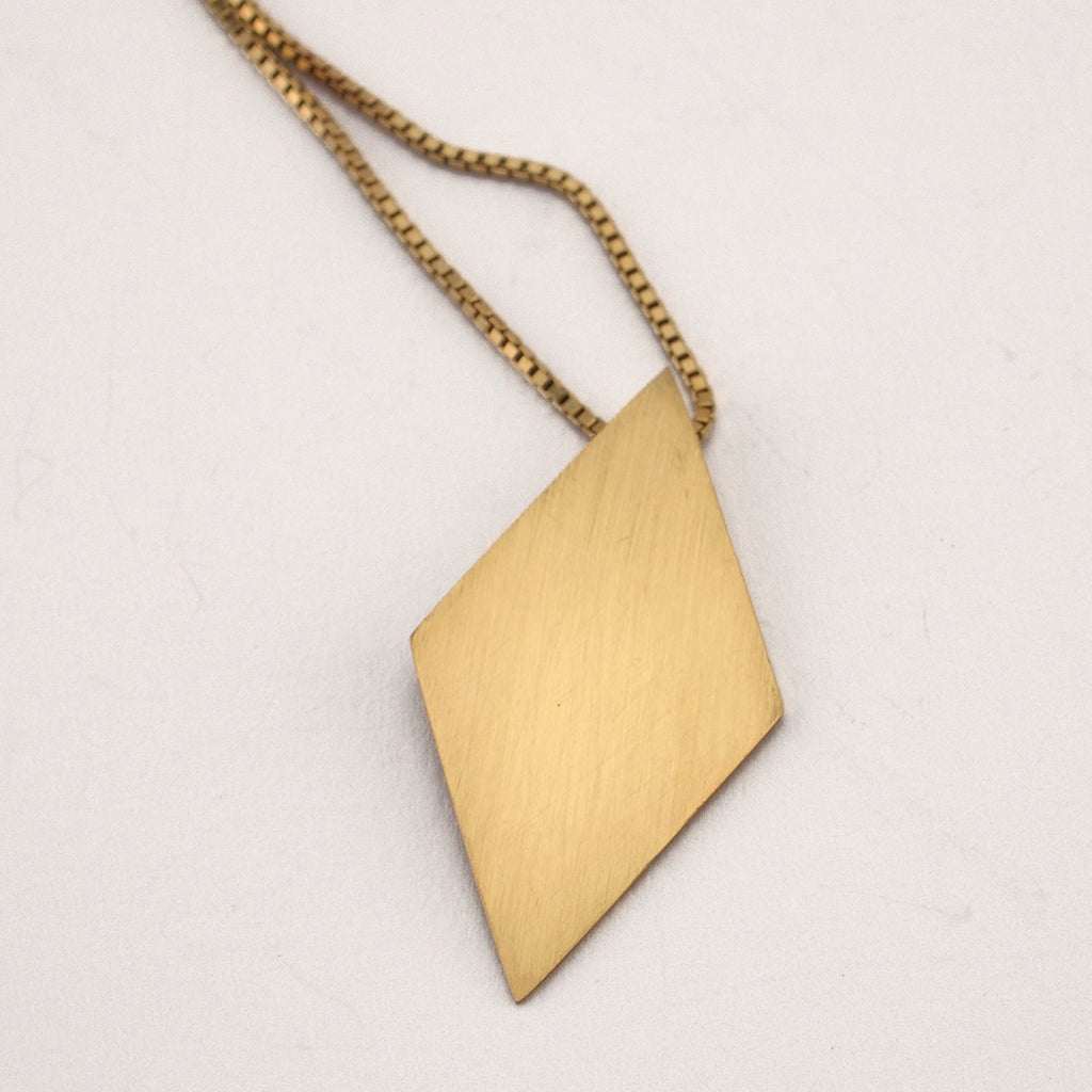 Love Triangle Middle Pendant | Gold Plate