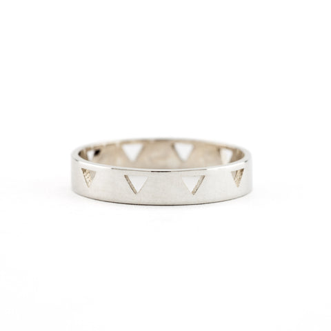Triangle Cut-Out Ring | Silver