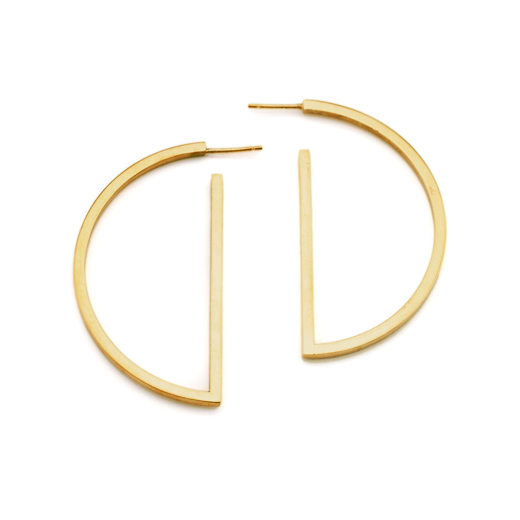 Half Circle Hoop Earrings | Gold