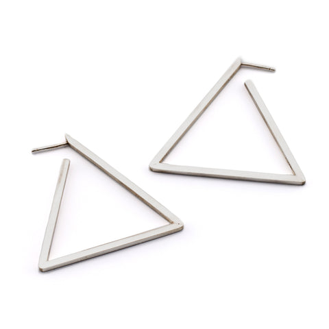 Triangle Hoop Earrings | SIlver