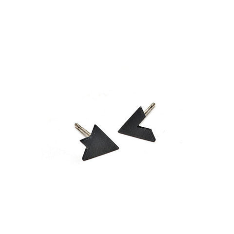 Diamond 2 Part Earring Set | Oxidised
