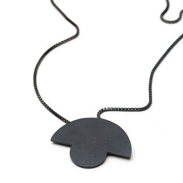 Round Top Pendant | Oxidised