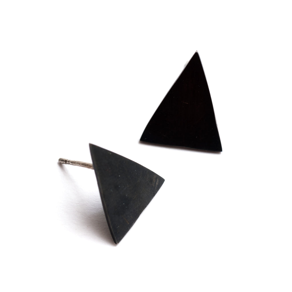 Egypt Triangle Stud Earrings | Oxidised