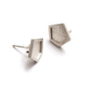Hex On You Stud Earrings | Matt Silver