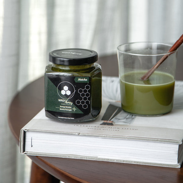 Try our Matcha Energy-Booster and start enjoying the benefits of matcha | NRGY Honey Superfood