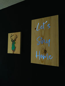 Light up resin signs