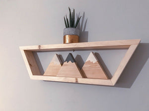 Geometric Hexagon Honeycomb Shelf, Hand Made, Finished Bare