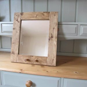 Hand made solid Pine mirror