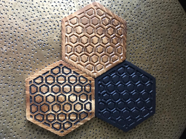 Coasters geometric set of 4 hand finished custom design home decor