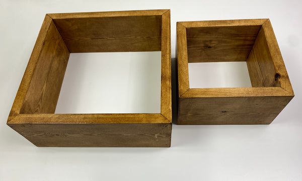 Floating square Shelf box shelf HandMade waxed or natural made to order set of 2