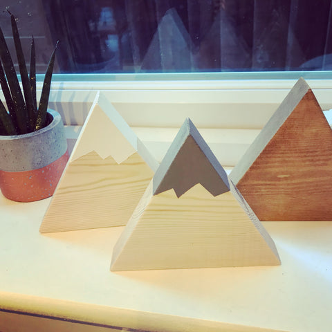 Geometric Triangle Home Accessories. Nordic Charm , Set Of 3 Hand Made