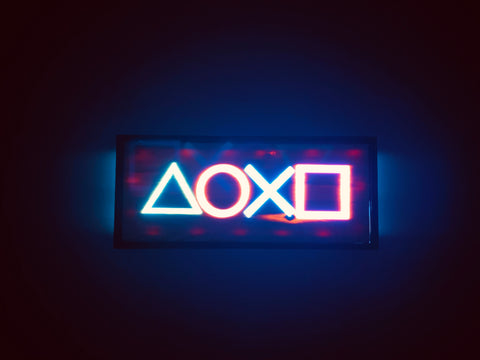 Gamer led light up wall art engraved wood and epoxy bespoke sign