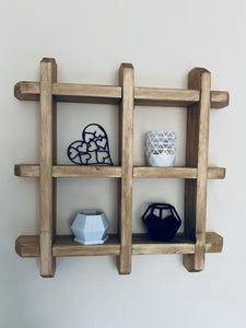Floating wooden toilet roll storage Shelf display shelf HandMade