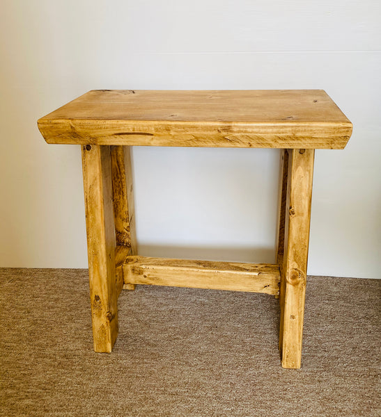 Rustic Handmade Wooden Stool seat bench kids bench desk chair