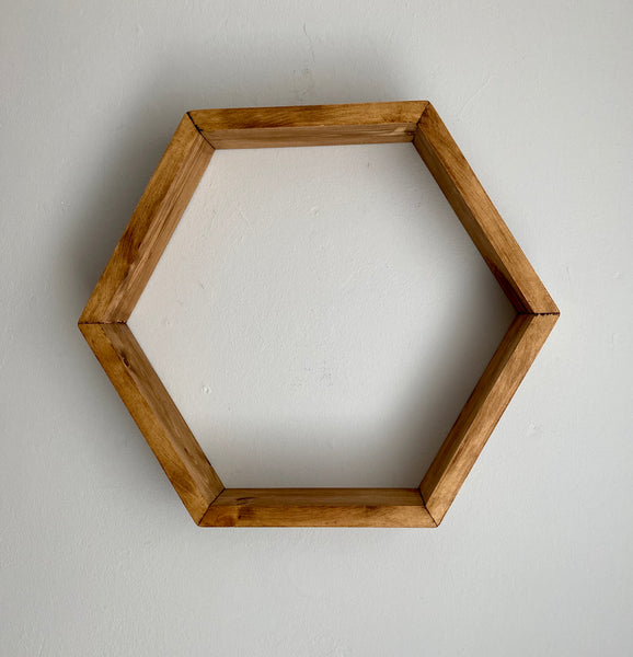 Geometric Floating Hexagon Honeycomb Shelf shelves Hand made choice of finishes , Price per hexagon shelf