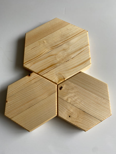 Chopping board platters serving board set of 3  geometric honeycomb hand made food safe chopping board oil