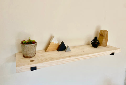 Hand made shelf shelves chunky shelf Including bent lip Iron brackets and fitting kit choice of colours available