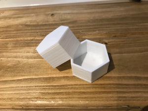 keep sake box hexagon personalised bespoke made 3D printed