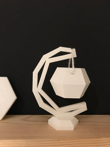 Crescent 3D printed hanging geometric planter - succulent - modern home decor