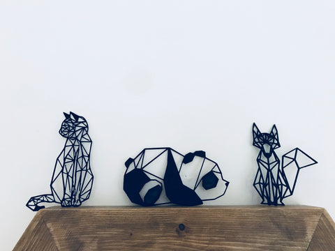 3D Printed animal frame geometric home decor