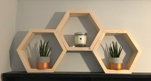 hexagon bare set of 3