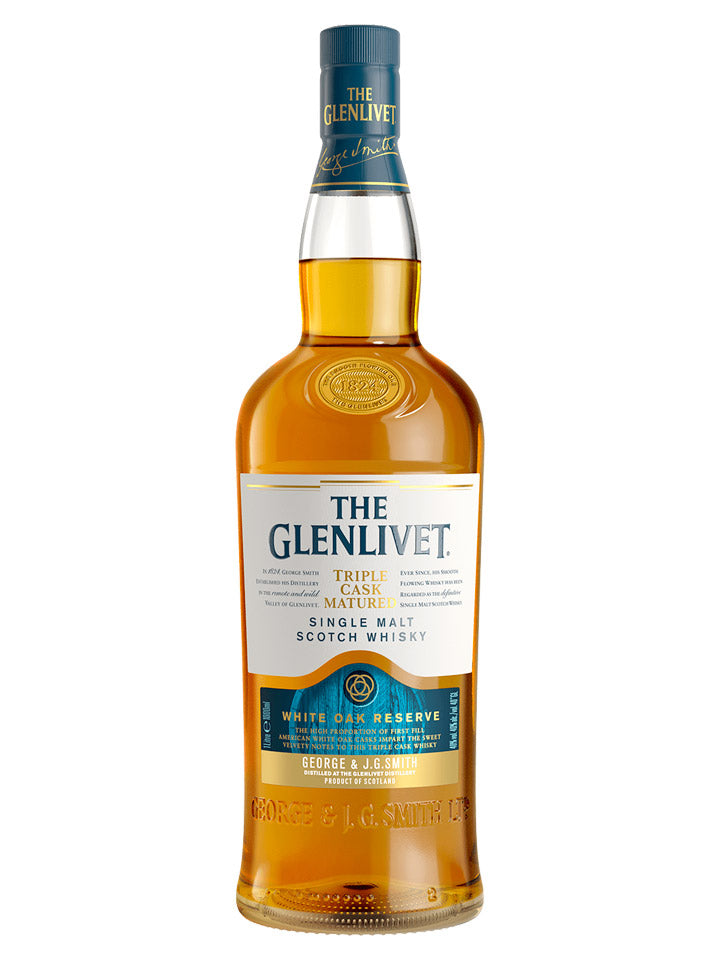 Glenlivet White Oak Reserve Triple Cask Matured Single Malt Scotch Whisky 1L