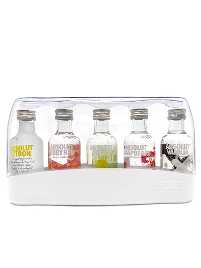 Absolut Five Assorti Miniature Gift Pack Swedish Vodka 5 x 50mL