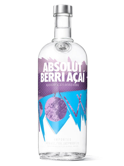 Absolut Berry Acai Flavoured Swedish Vodka 1L