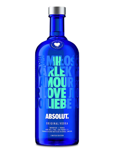 Absolut Drop Of Love 2018 Limited Edition Swedish Vodka 1L