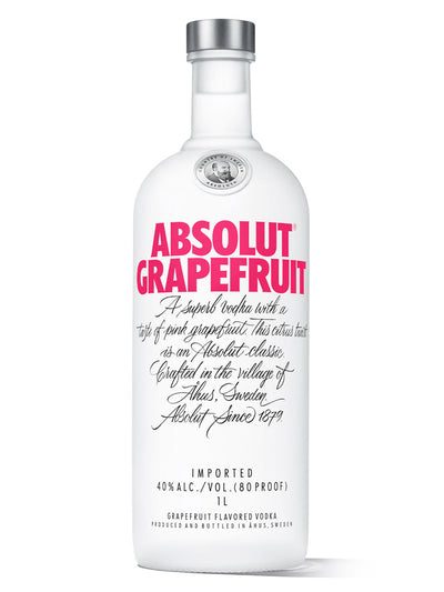 Absolut Grapefruit Flavoured Swedish Vodka 1L