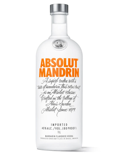 Absolut Mandrin Mandarin Flavoured Swedish Vodka 1L