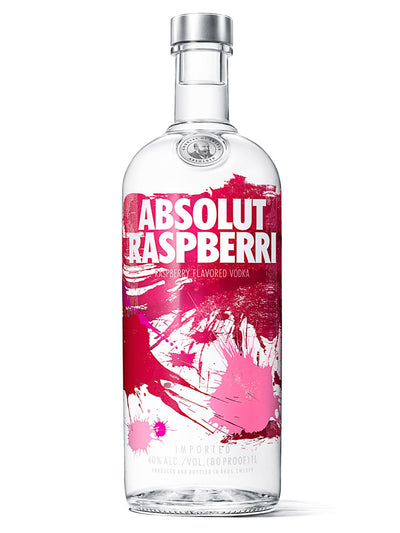 Absolut Raspberri Raspberry Flavoured Swedish Vodka 1L