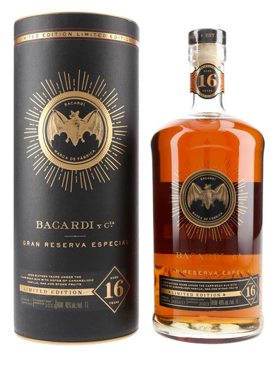 Bacardi 16 Year Old Gran Reserva Especial Limited Edition Rum 1L