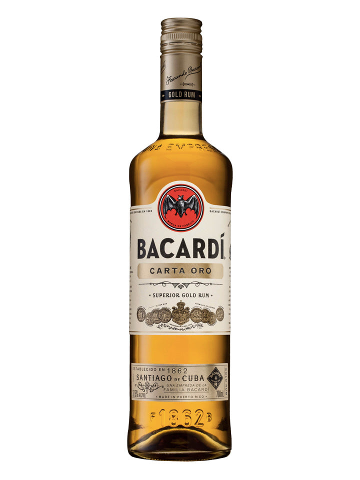 Bacardi Carta Oro Superior Gold Rum 700mL