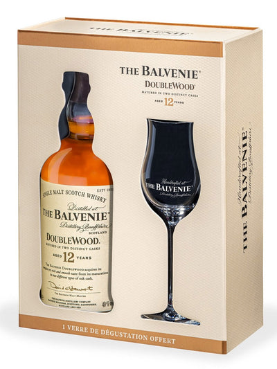 Balvenie Doublewood 12 Year Old + 1 Glass Gift Pack Single Malt Scotch Whisky 700mL