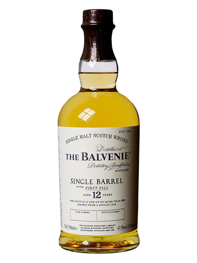 Balvenie 12 Year Old Single Barrel First Fill Single Malt Scotch Whisky 700mL