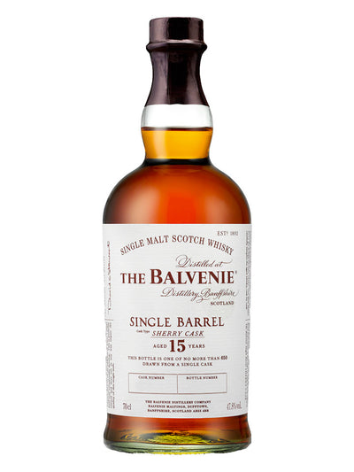 Balvenie 15 Year Old Single Barrel Sherry Cask Single Malt Scotch Whisky 700mL