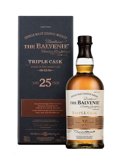 Balvenie Triple Cask 25 Year Old Single Malt Scotch Whisky 700mL
