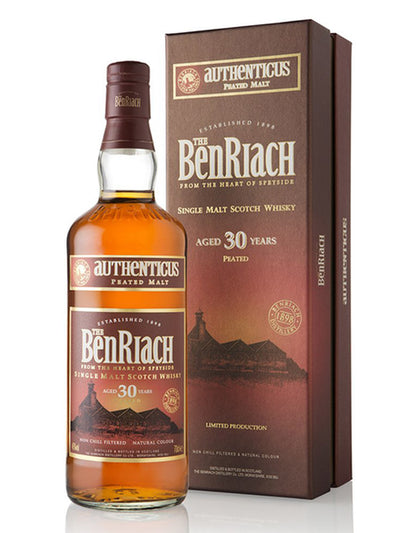 BenRiach 30 Year Old Authenticus Speyside Single Malt Scotch Whisky 700mL