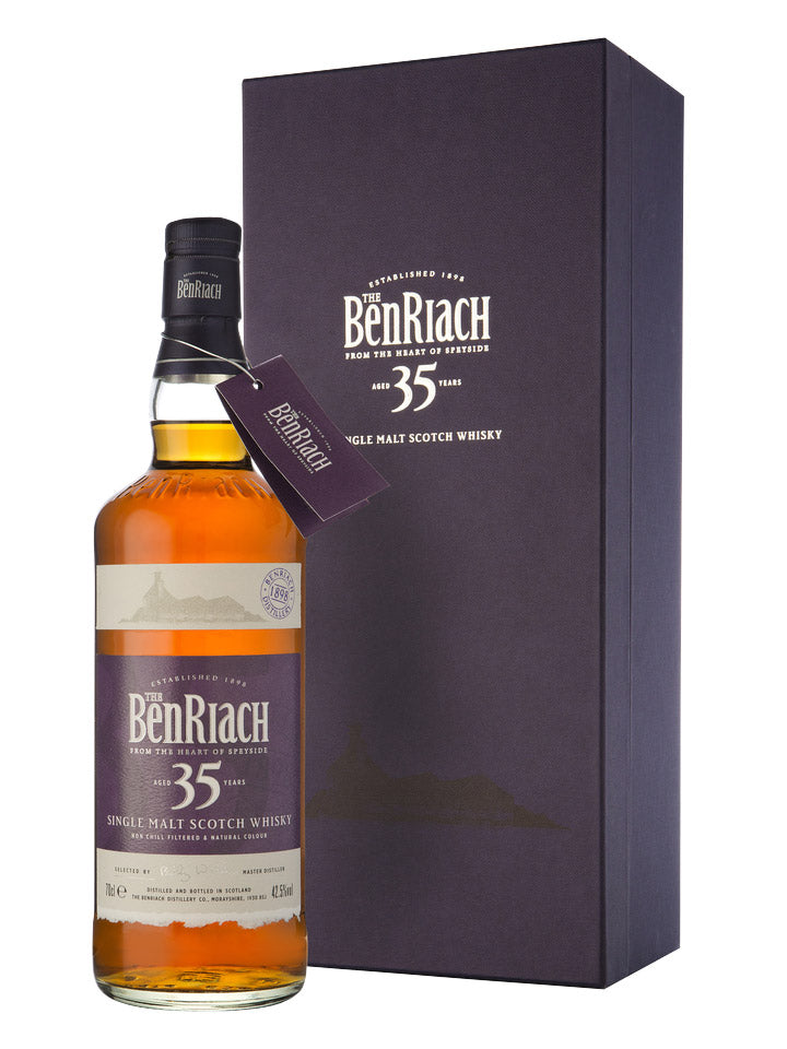 BenRiach 35 Year Old Deluxe Speyside Single Malt Scotch Whisky 700mL