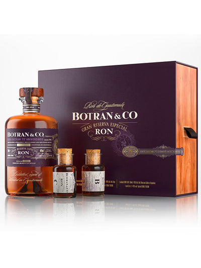 Botran & Co Gran Reserva Especial Ron 75th Anniversary Gift Pack 500mL + 2 x 50mL Samples