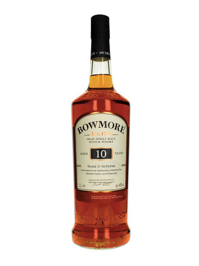 Bowmore Dark & Intense 10 Year Old Single Malt Scotch Whisky 1L