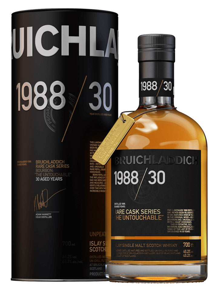 Bruichladdich 1988 The Untouchable 30 Year Old Islay Single Malt Scotch Whisky 700mL