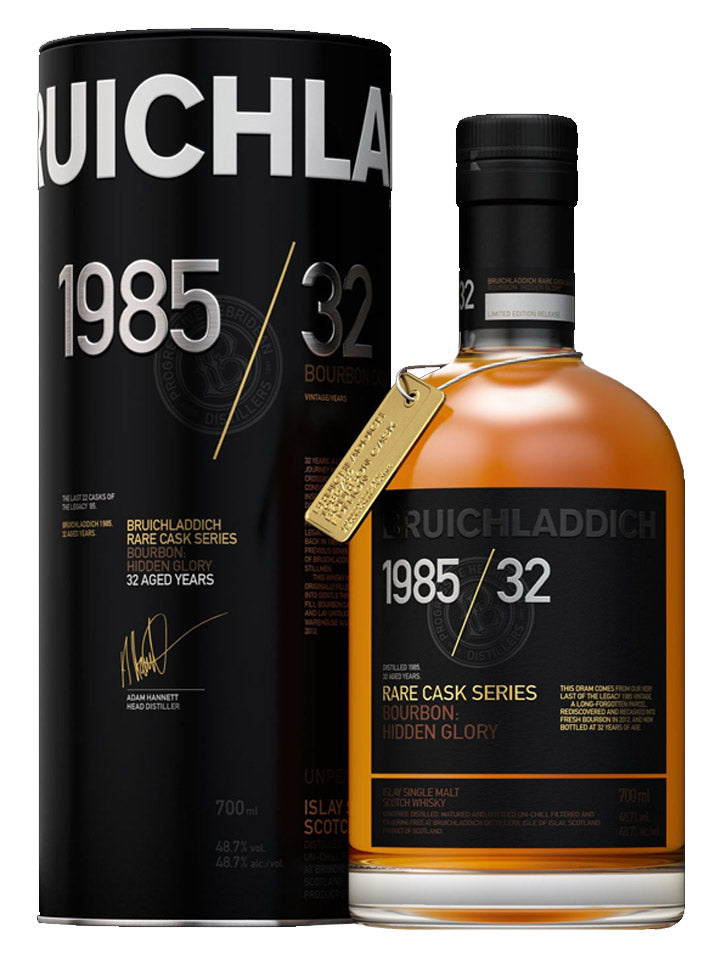 Bruichladdich 1985 Hidden Glory 32 Year Old Islay Single Malt Scotch Whisky 700mL