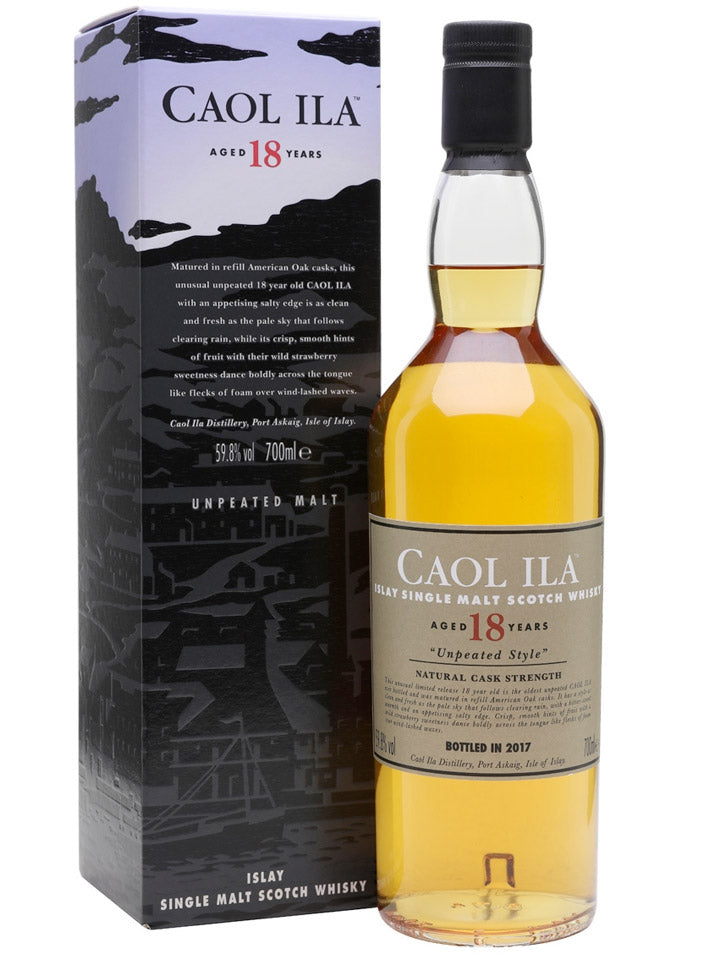 Caol Ila 18 Year Old Unpeated 2017 Cask Strength Single Malt Scotch Whisky 700mL